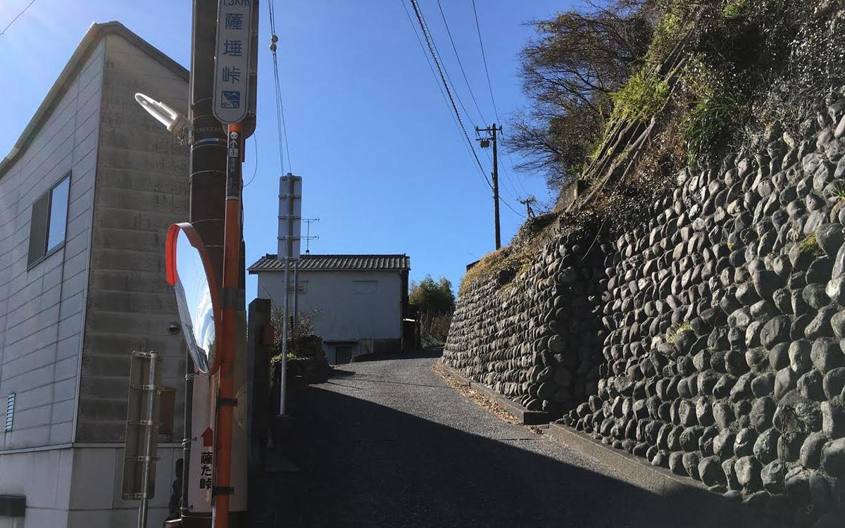 薩埵峠を押し歩き